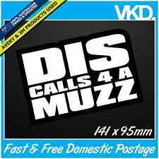 Dis Calls 4 A Muzz Sticker/ Decal - Dance Facebook Zyzz Funny Meme Music Techno