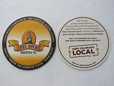 Beer Bar Coaster ~*~ DRY DOCK Brewing Co & Canoe Room ~ Aurora, COLORADO Brewery