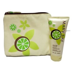 Mary Kay Coconut Lime Shower Gel with Matching Cosmetic Bag Gel & Bag Set