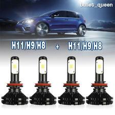 H11 + H11 LED Headlight High Low Beam Kit for Chrysler Town & Country 2008-2016