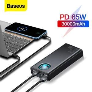 Baseus 65W Power Bank 30000mAh USB Typ C QC AFC Handy Laptop Externer Batterie
