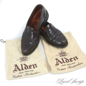 #1 MENSWEAR $786 Alden Made in USA 986 #8 Shell Cordovan LHS Loafers 9 A/C NR
