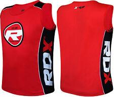 RDX Gym Vest Mens Top BodyBuilding Boxing Tank TShirt Stringer Fitness Running D