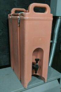 Cambro Insulated Drink Dispenser 500LCD 4.5 Gal Hot/Cold Handles Cream
