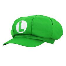 Super Mario Hat Luigi Green Adult Cosplay Hat Costume Carnival