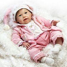 Baby Reborn Doll Silicone Vinyl Handmade Newborn Girl Lifelike Realistic Body