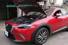 Black Strut Bonnet Hood Shock Stainless Damper Set for 2015-2019 Mazda CX-3 DK