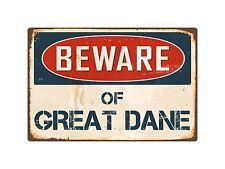 """Beware Of Great Dane 8"""" x 12"""" Vintage Aluminum Retro Metal Sign VS193"""