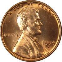 1954 D Lincoln Wheat Cent BU Uncirculated Mint State Bronze Penny 1c Coin
