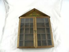 Vintage My Collection Wooden Glass Doors Display Cabinet Knick Knack Shelf