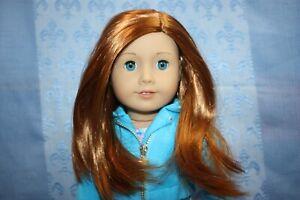 "NEW American Girl Truly Me 18"" DOLL #65 Lt Skin Blue Eyes Long Red Hair D"