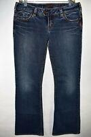 Silver Jeans Tuesday Women's Bootcut Jeans Size 30x33 Stretch Meas. 31x32 Dark