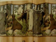 RUSTIC~Bear~OUT HOUSE~Camping~Hunting Cabin FABRIC SHOWER CURTAIN~Gotta Go
