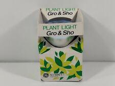 Vintage GE Gro & Sho Plant Light Bulb 50 Watt - In Original Box