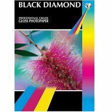 GLOSS A4 INKJET PHOTO PRINTER PAPER High Quality 20 50 100 Sheets BLACK DIAMOND