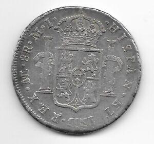 PERU  8 reales 1784  SILVER  KM# 78  VF