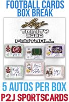 2020 LEAF TRINITY 🏈FOOTBALL CARD HOBBY Box BREAK 1 RANDOM TEAM NFL🏈Break 3949