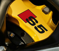 6 X Audi S5 Decal Sticker Brake Caliper Vinyl Emblem Graphics Logo Car B A