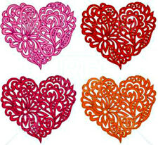 20 WATER SLIDE NAIL ART DECALS TRANSFERS 4 DIFFERENT HEARTS
