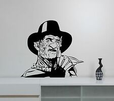 Freddy Krueger Sticker Vinyl Wall Decal Movie Art Room Bedroom Horror Decor krg2