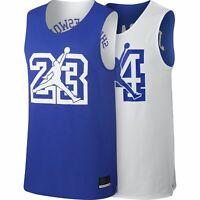 "Nike Air Jordan Men's SZ M  ""He Got Game"" Reversible Mesh Jersey AR1257-405 Blue"