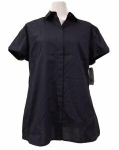 HIGH QUALTIY Sz 8 10 12 14 18 NNT Discounted Women's Maternity Work Shirts-Navy