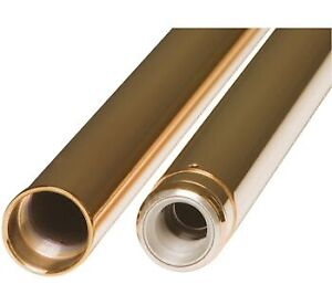 Custom Cycle 710029 Gold Fork Tubes 49mm 24.875 Harley Touring 17-Up