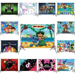 Cartoon Birthday Photography Backdrop Party Studio Live Wall Decor Backgrounds