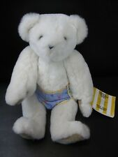 White Vermont 15 inch Teddy Bear Company Plush Stuffed Animal Jointed w/ TAG