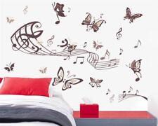 Wandtattoo Wandsticker Wandaufkleber Musik Noten Schmetterlinge 80 x 130 W130