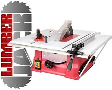 "240v Bench Table Saw with 10"" 254mm Blade Side & Rear Extensions Solid Fence"