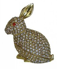 Big Bejeweled cloisonne White Rabbit Statue