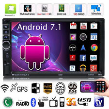 "7""Double 2DIN Quad-core Android 7.1 3G Bluetooth Car Radio Stereo MP5 Player GPS"