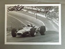 2014 MASTERS RACING SCHEDULE PROMO CARD HAND SIGNED BY SAM & DAVID BRABHAM