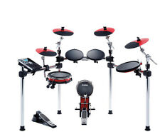 ALESIS COMMAND X 9-PC ELECTRONIC DRUM KIT SET DIGITAL MODULE RED/BLACK SNARE