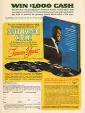 1967 vintage AD NAT KING COLE Album Forever Yours Sweepstakes Contest 102115