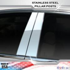 Stainless Steel Pillar Post Chrome Door Trim 4PC For Audi A4 2005-2008