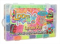 2500 looms Band Pieces Kit Box Rubber Loom Bands Board Bracelet Making Diy Set