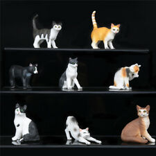 Plush Cat Lifelike Mini Simulated Pet Model Animal Realistic Synthetic Figurine