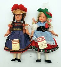 LMAS ~ Schmider German Dolls Barbel & Kathi In Traditional Dress