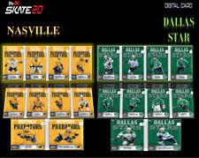 19-20 WINTER CLASSIC NASVILLE & DALLAS SET OF 20 CARDS Topps NHL Skate Digital