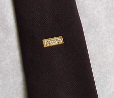 MSA TIE COMPANY CORPORATE ADVERTISING MOTIF CREST EMBLEM 1980s VINTAGE RETRO