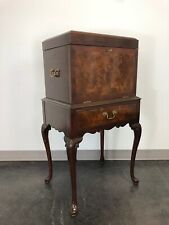 HICKORY CHAIR Mahogany & Burl Queen Anne Silver Chest