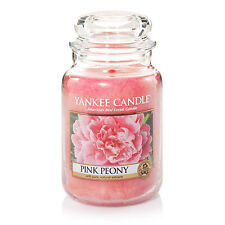 ☆☆PINK PEONY☆☆ LARGE YANKEE CANDLE JAR~ FREE SHIPPING☆☆FLORAL SCENTED CANDLE