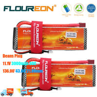 2X 3S 11.1V 3000mAh 30C Li-po RC Battery with Dean Plug for RC Car Airplane Boat