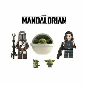 Star Wars The Mandalorian, Baby Yoda, Cara Dune Minifigure Lot