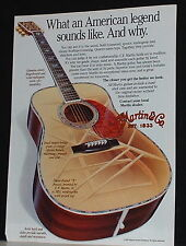 1991 Martin acoustic guitar why it sounds print Ad