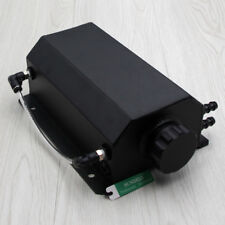 2L Aluminium Alloy Oil Catch Can Tank Reservoir with Drain Plug 2000ml Black NEW