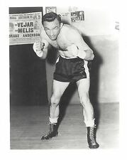 CARMEN BASILIO 8X10 PHOTO BOXING PICTURE IN GYM