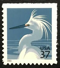 2003 Scott #3830 - 37¢ - Snowy Egret - Booklet Single Stamp - Mnh